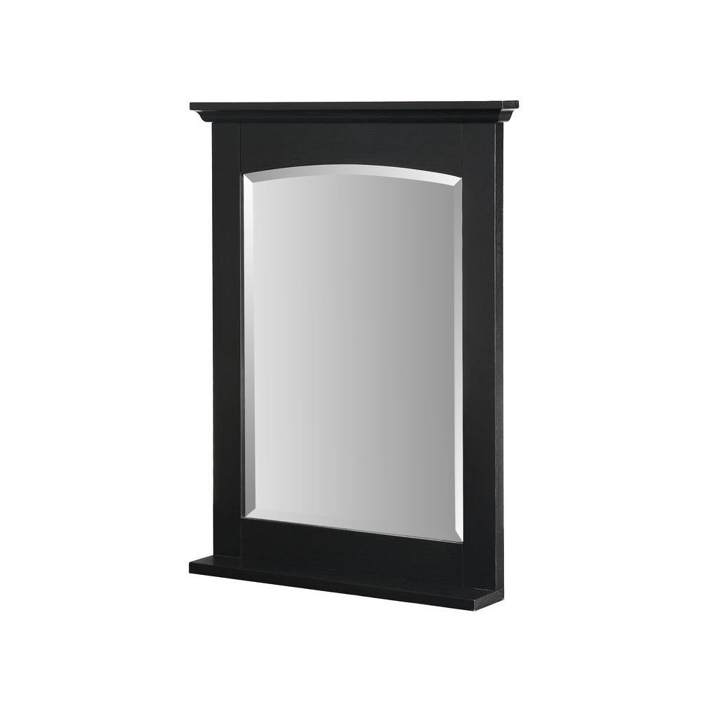 RYVYR Kent 32 in. x 24 in. Ash Framed Wall Mirror in Brown Ebony