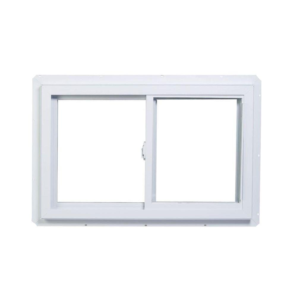 American Craftsman 60 In X 47 70 Series Right Hand Sliding White Vinyl Window With Nailing