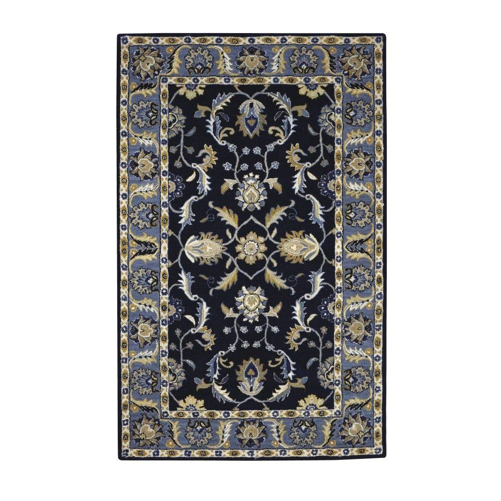 Home Decorators Collection Old London Terra/Blue 6 Ft. X 9