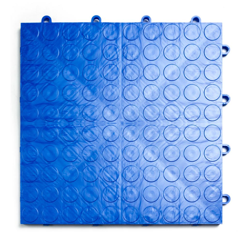 12 in. x 12 in. Coin Royal Blue Modular Tile Garage