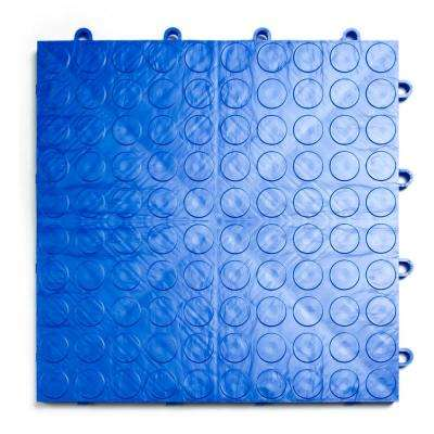 12 in. x 12 in. Coin Royal Blue Modular Tile Garage Flooring (24-Pack)