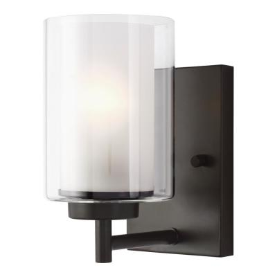 Elmwood Park 4.5 in. W 1-Light Heirloom Bronze Vanity Light