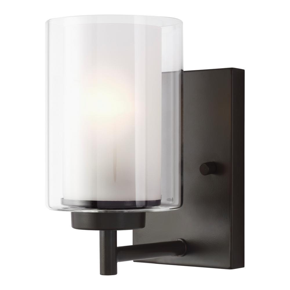 Elmwood Park 4.5 in. W 1-Light Heirloom Bronze Vanity Light