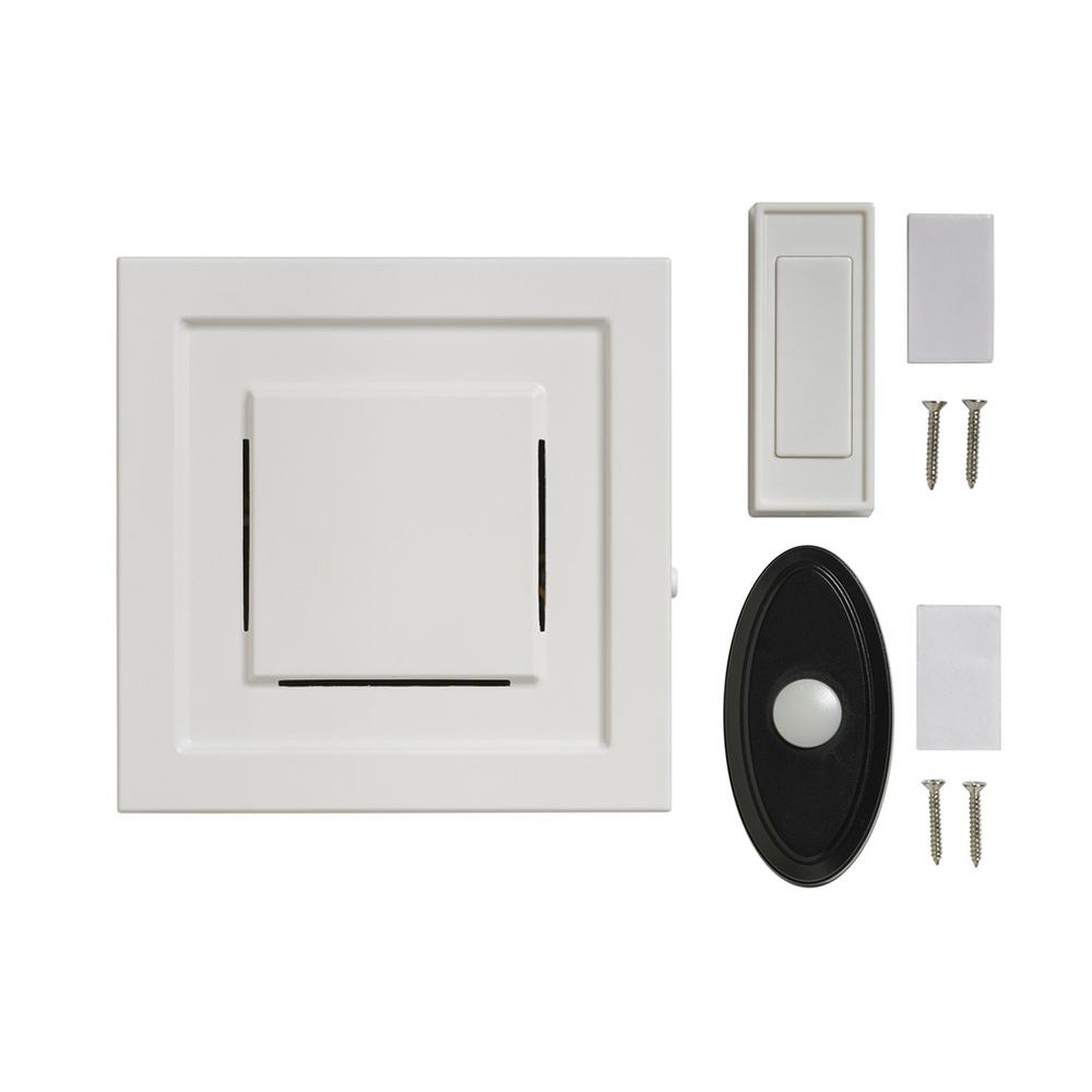 Honeywell series 3 plug in door bell with led strobe for 1 by one door chime