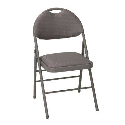 Taupe Metal Frame Padded Seat Folding Chair (Set of 4)