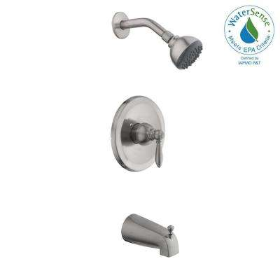 Adley Single-Handle 1-Spray Tub and Shower Faucet in Brushed Nickel