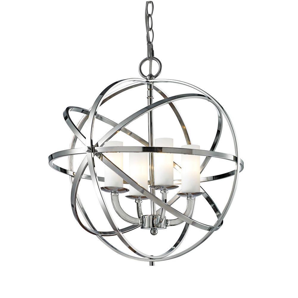 Filament Design Gala 4-Light Chrome Pendant-CLI-JB-032581