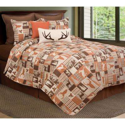Buck Ridge Trail Brown Twin Quilt Set