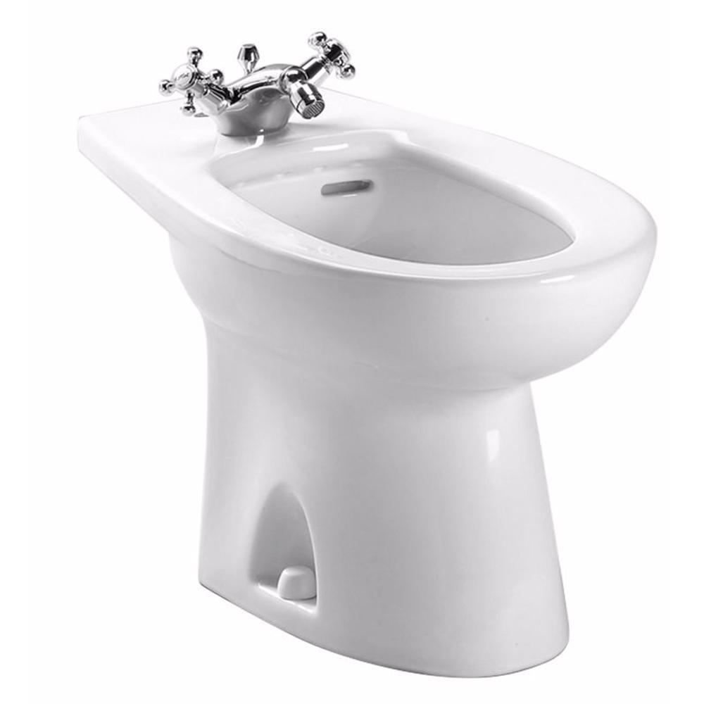Piedmont Elongated Bidet for Deck Mount Faucet in Cotton White