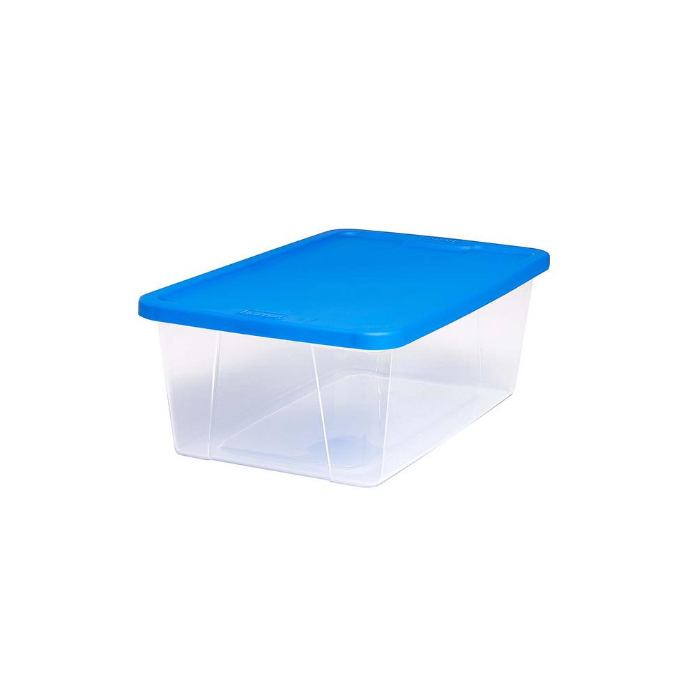 Bluehomz Solutions: HOMZ Snaplock 6 Qt. Clear Storage Container With Blue Lid