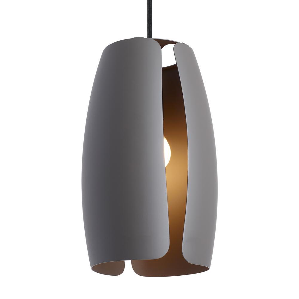 LBL Lighting Lifo 1 Light Gray Pendant LP956GY