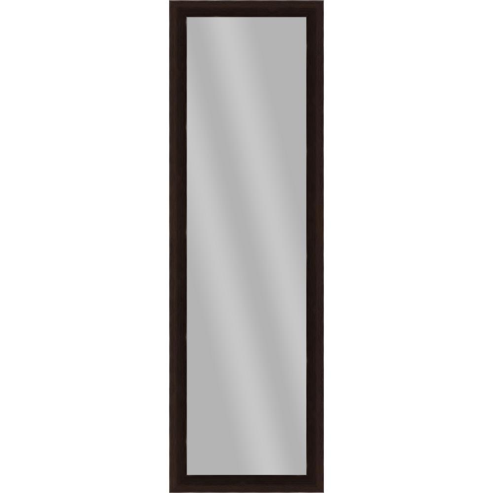 Large Rectangle Espresso Art Deco Mirror (51.875 in. H x 15.875 in. W)