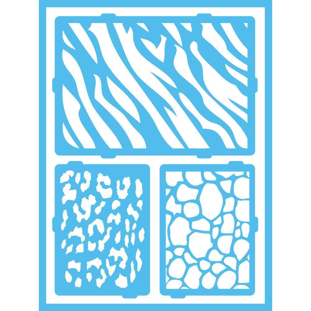 Americana Safari Self-Adhesive Stencil by Americana