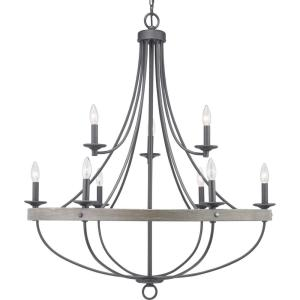 Gulliver 9-Light Graphite Chandelier