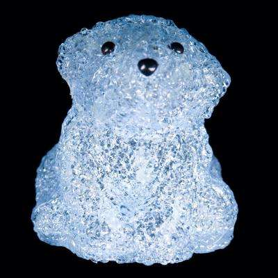 6 in. Decorative Blue Baby Bear Sitting LED Light