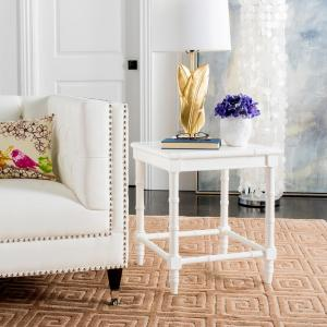Safavieh Liviah White Side Table ACC3500A - The Home Depot