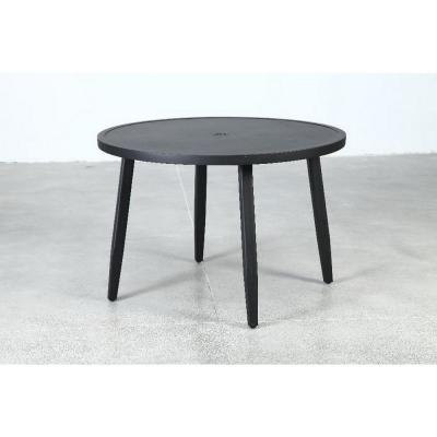 Braxton Park Black Round Metal Outdoor Dining Table