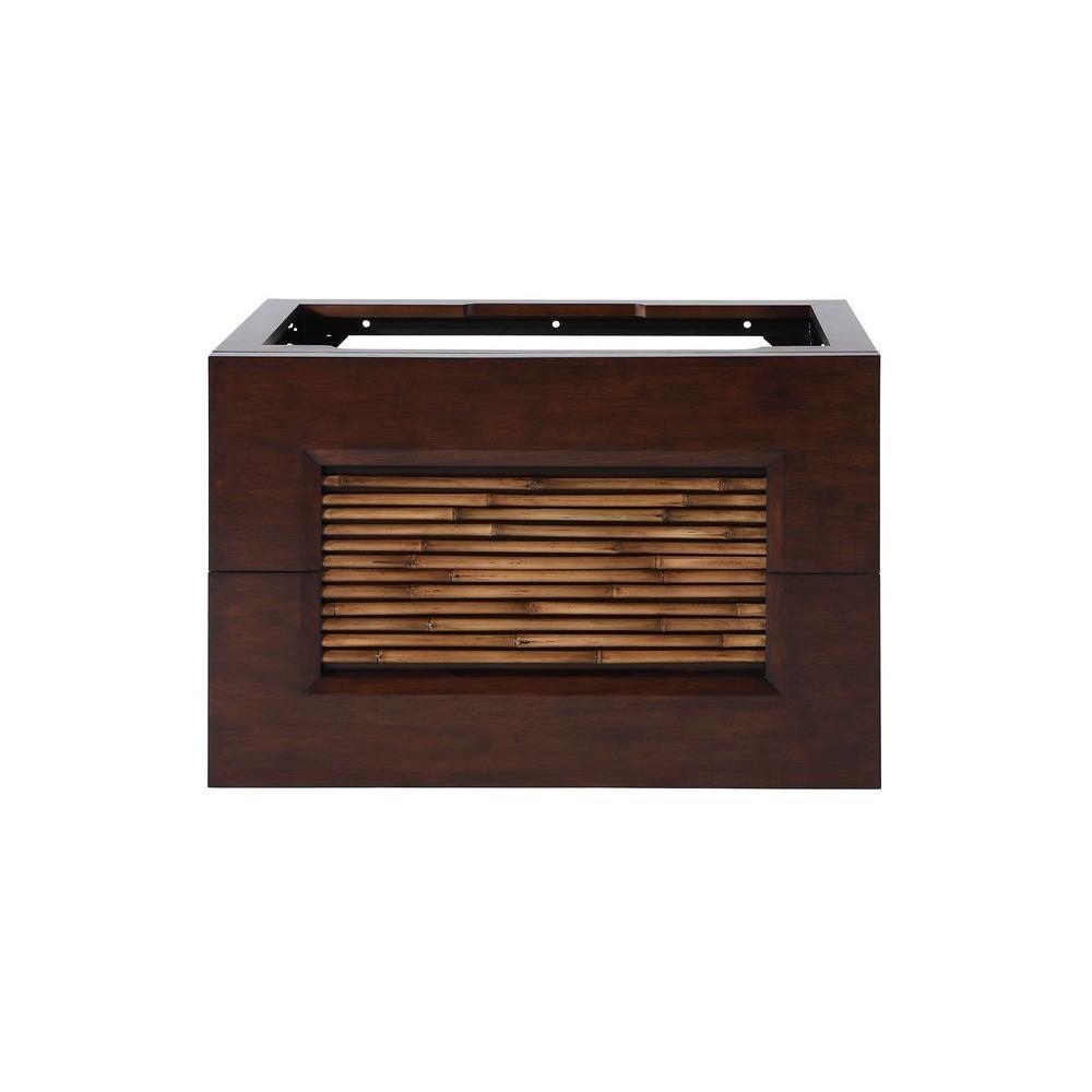 Bambu 30 in. Vanity Cabinet Only in Dark Bamboo