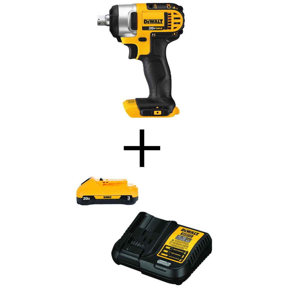 DEWALT 20-Volt MAX Lithium-Ion Cordless 1/2 in. Impact Wrench Kit (Tool-Only) with Free 20-Volt MAX Battery 3.0Ah & Charger was $288.0 now $139.0 (52.0% off)