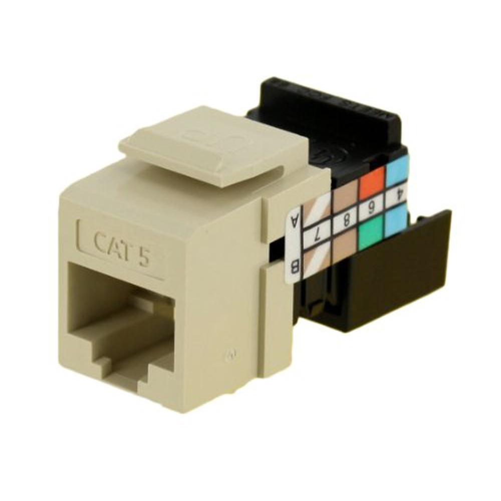 Leviton QuickPort CAT 5 Connector, Ivory
