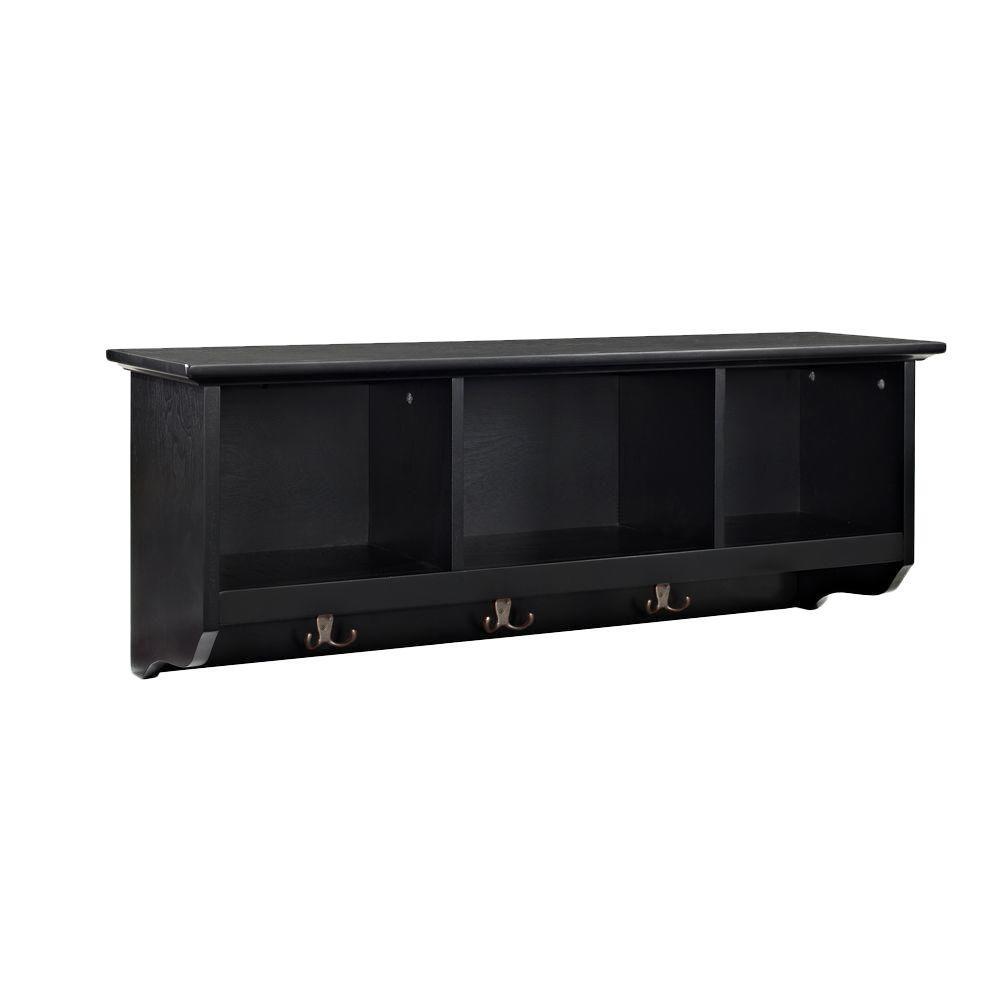 Brennan Entryway Storage Shelf in Black