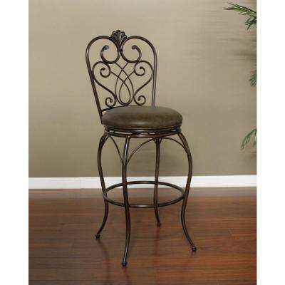 Solace 30 in. Clay Cushioned Bar Stool