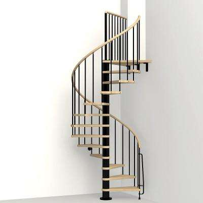 Phoenix Black 47 in. Spiral Staircase Kit