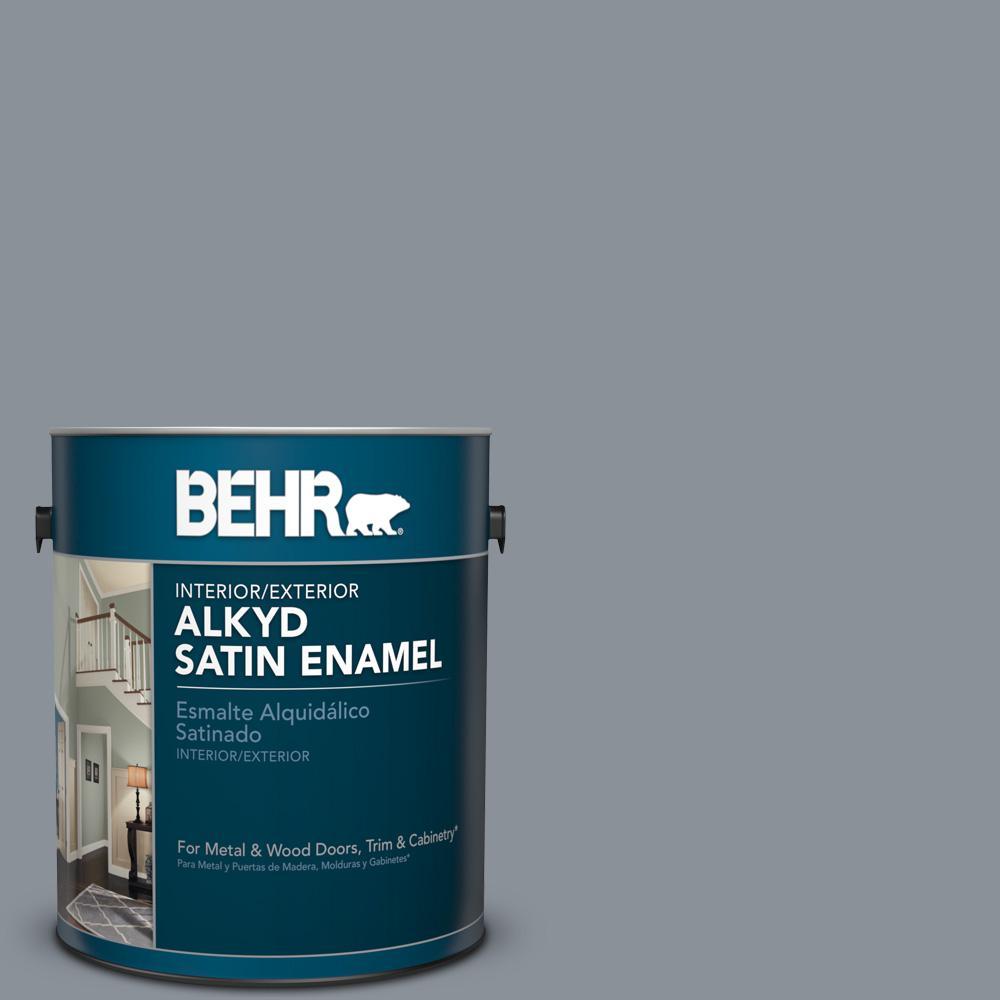 1 gal. #PPU18-4 Dark Pewter Satin Enamel Alkyd Interior/Exterior Paint