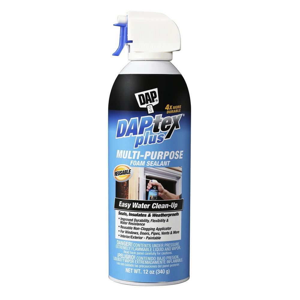 DAP Daptex Plus 12 oz. White Exterior/Interior Window and Door Foam Sealant