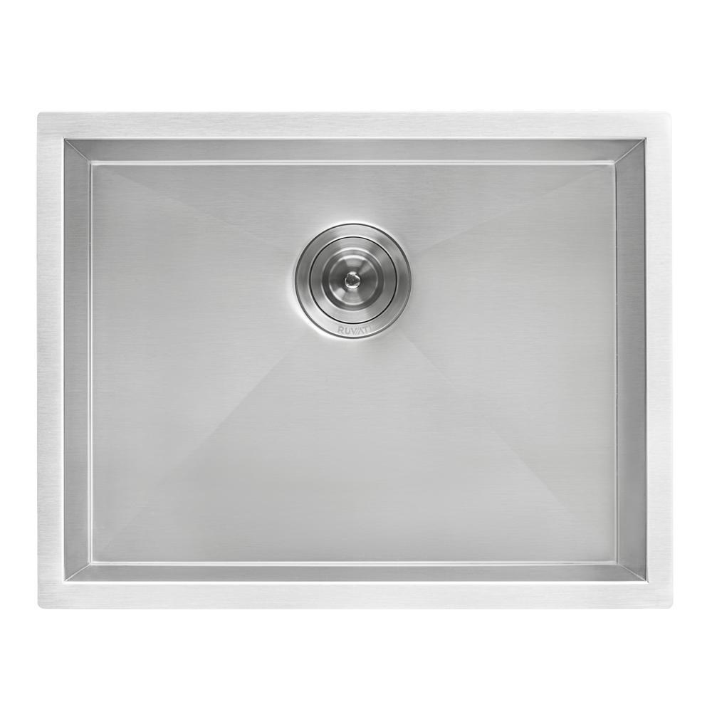 24 in. x 18 in. x 13 in. D Stainless Steel Single Bowl Undermount Utility Sink