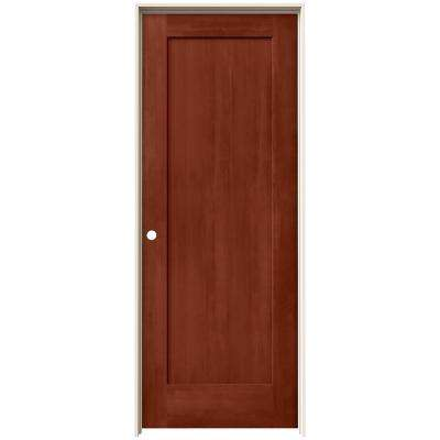 24 in. x 80 in. Madison Amaretto Stain Right-Hand Solid Core Molded Composite MDF Single Prehung Interior Door
