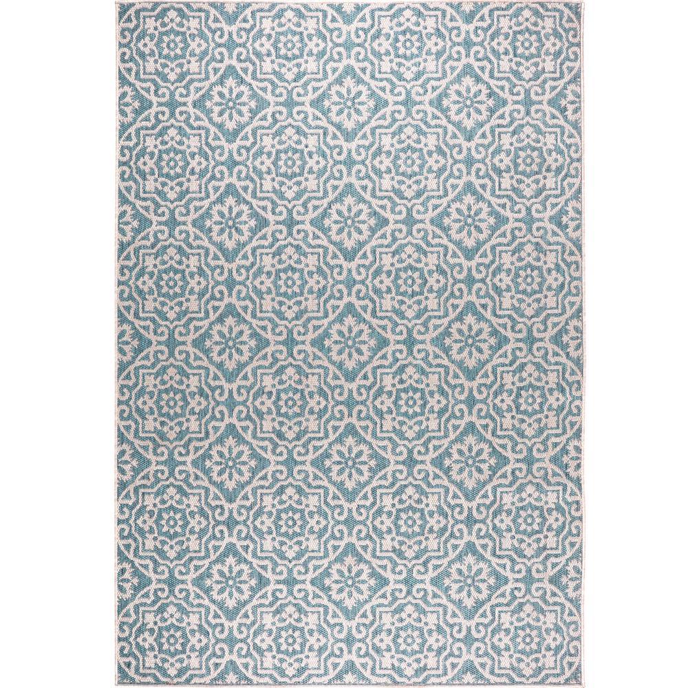 Patio Country Blue/Gray 5 ft. 2 in. x 7 ft. 2 in. Indoor/Outdoor Area Rug