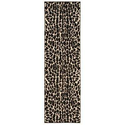 Studio Ivory/Black 2 ft. x 7 ft. Runner Rug