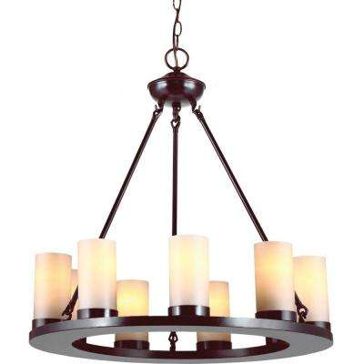 Ellington 9-Light Burnt Sienna Single-Tier Chandelier