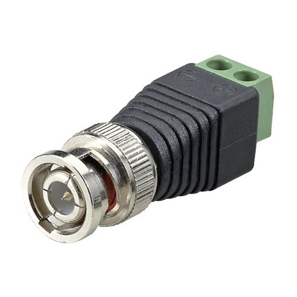 Spt Terminal Block Bnc Male Coax Cat5 Camera Cctv Video Balun Coaxial Power Jack Wiring Connector 10 Piece