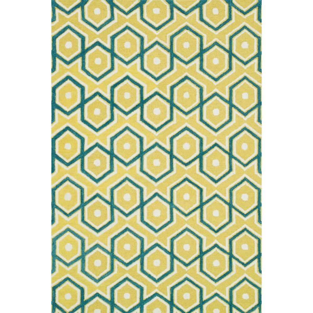 Loloi Rugs Weston Lifestyle Collection Lemon/Aqua 2 ft. 3 in. x 3 ft. 9 in. Area Rug
