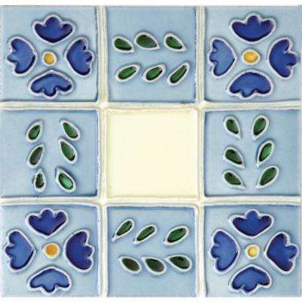 Hand-Painted Ceramic Ventana 6 in. x 6 in. x 6.35 mm Glazed Ceramic Wall Tile (2.5 sq. ft. / case)