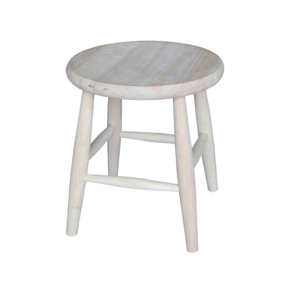 International Concepts 18 In Unfinished Wood Bar Stool