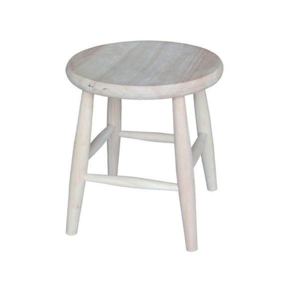 International Concepts 18 in. Unfinished Wood Bar Stool 1S-818