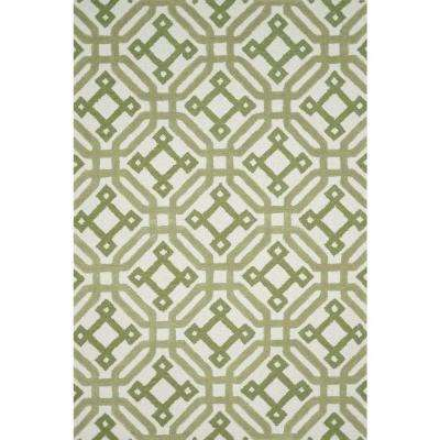 Weston Lifestyle Collection Ivory/Green 5 ft. x 7 ft. 6 in. Area Rug