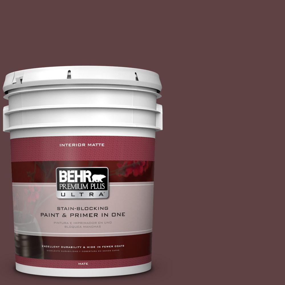 BEHR Premium Plus Ultra 5 gal. #S-G-700 Wild Raisin Flat/Matte Interior Paint