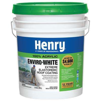 5 Gal. 687 100% Acrylic Enviro-White Extreme Elastomeric Roof Coating (24-Piece)
