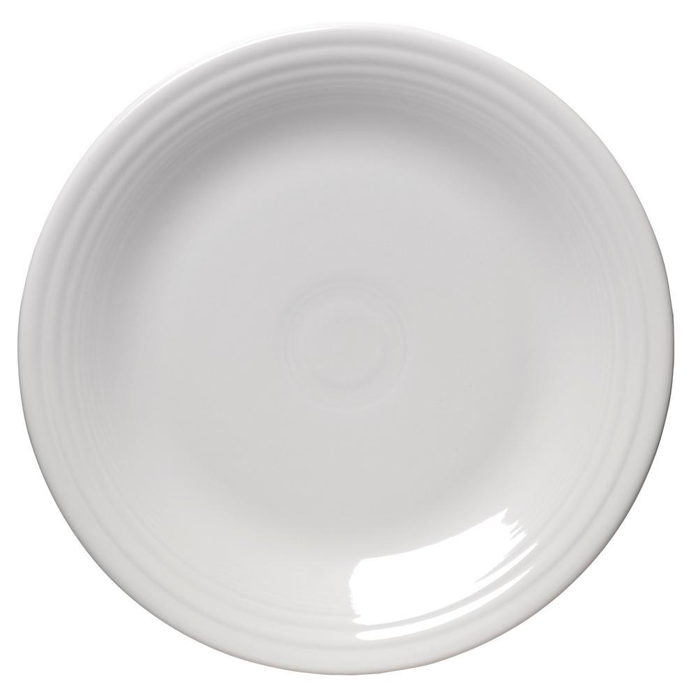 Fiesta White Dinner Plate 466100u The Home Depot