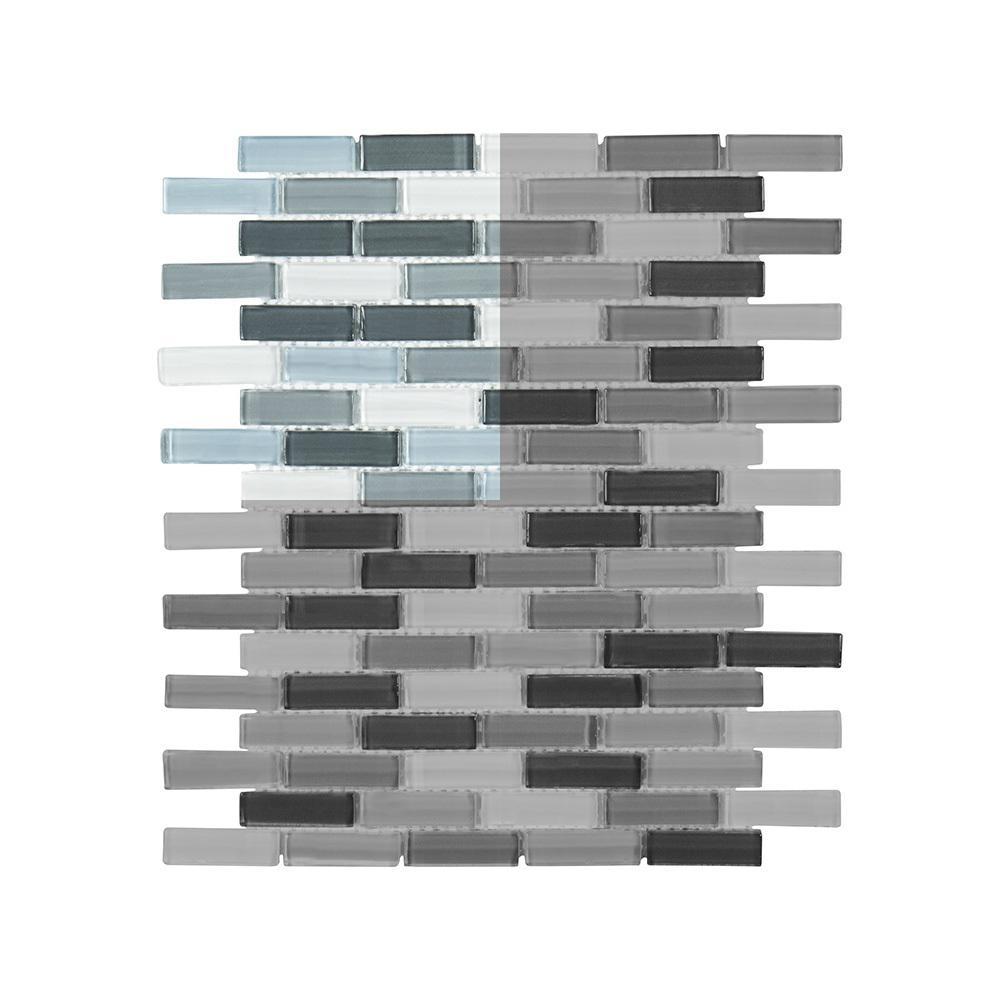 Malibu Breeze 3 in. x 6 in. x 8 mm Glass Mosaic Tile Sample