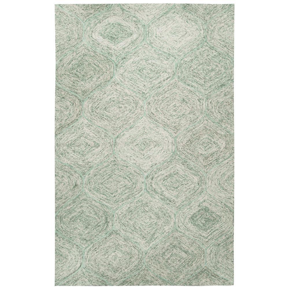Brindleton Green/Ivory 8 ft. x 10 ft. Rectangle Area Rug