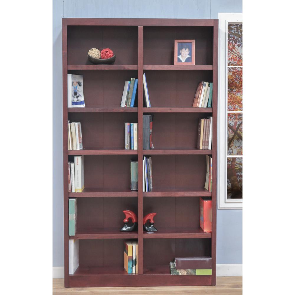 Cherry Wood 12 Shelf Standard Bookcase