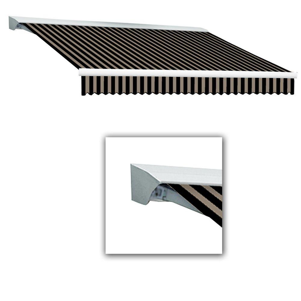 AWNTECH 16 ft. LX-Destin with Hood Manual Retractable Acrylic Awning (120 in. Projection) in Black/Tan