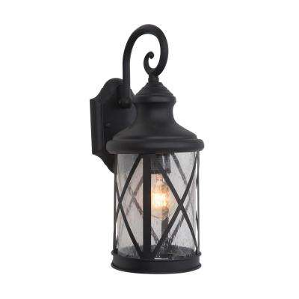 1-Light Exterior Lantern in Black Finish Medium Size