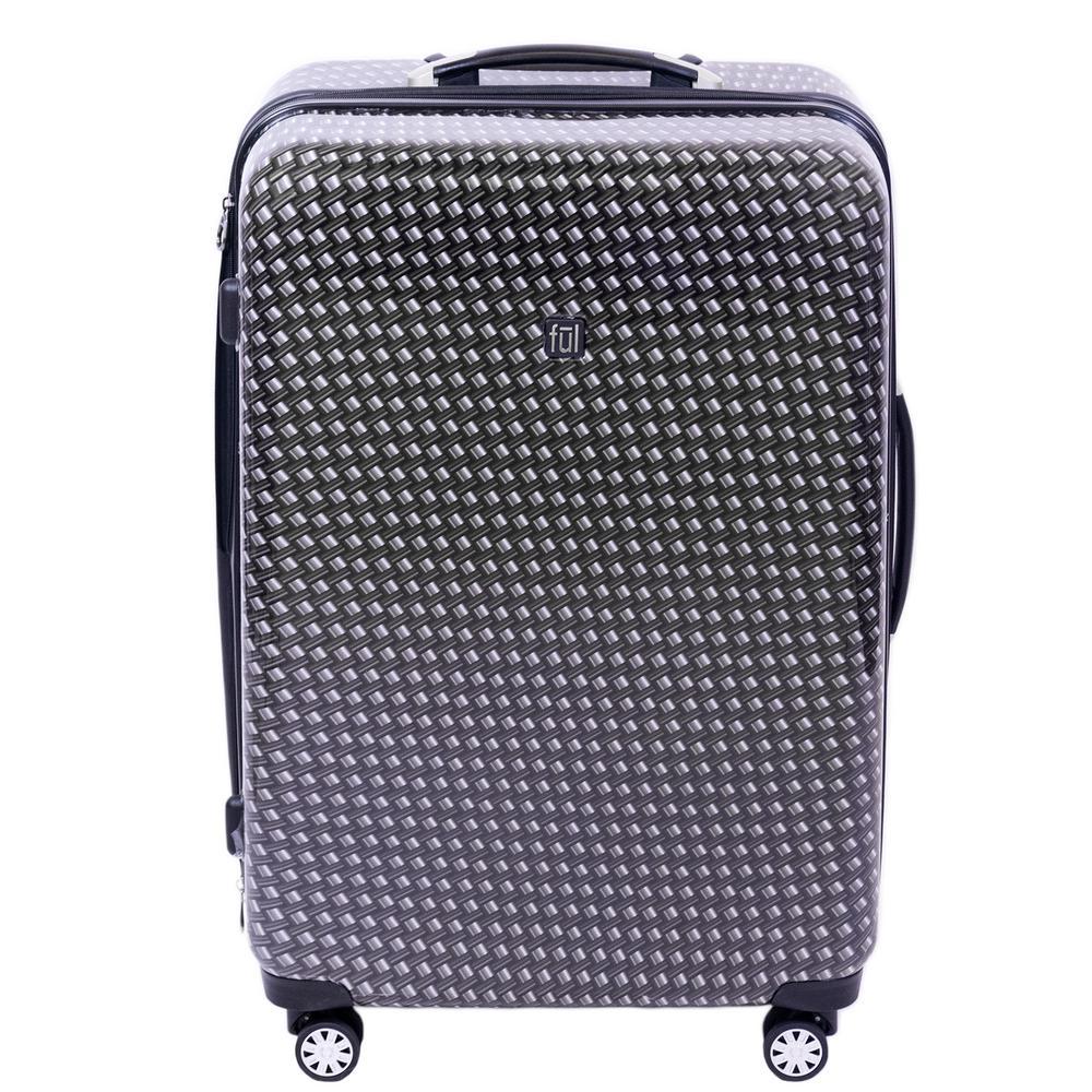 Metal Chain Swirl 28 in. Black Hard-sided Spinner Luggage