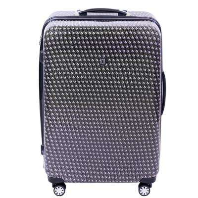 Metal Chain Swirl 28 in. Black Hard-sided Spinner Luggage